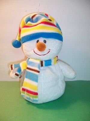 2009 ty pluffies blustery snowman plush beanie baby  with tags