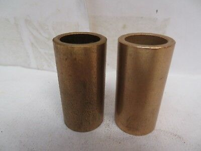 "NEW NO NAME BRASS BRONZE BUSHING B1216-16 3/4"" ID x 1"" OD x 2"" L ""LOT OF 2"""