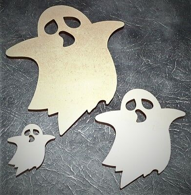 Ghost MDF wall art craft shape halloween party