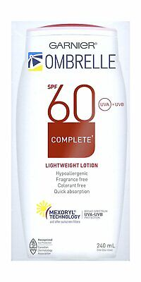 Garnier Ombrelle Sunscreen SPF60 w/ MEXORYL LARGE 8 oz/240 ml {Canadian}