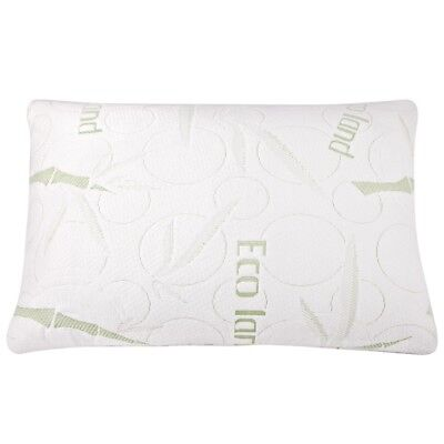 2x ECO LAND Luxury Bamboo Pillows Memory Foam Fabric Fibre Cover 70 x 40 cm @TOP