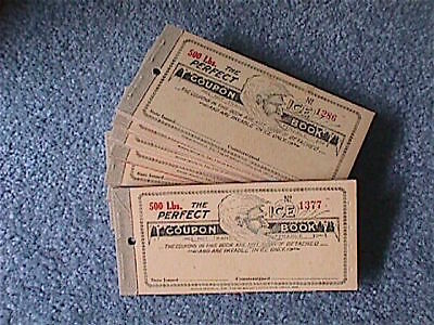 The PERFECT ICE COUPON BOOK Lincoln, Nebraska UNUSED New Old Stock NOS