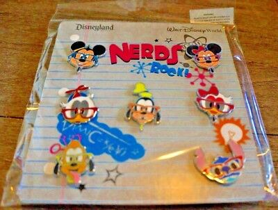 Disney Parks Booster Pins NERDS ROCK - FACES Mickey Minnie Donald Stitch More