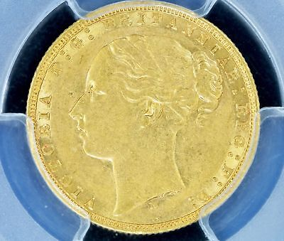 Sovereign 1876-M PCGS AU53 Australia Rare POP 5