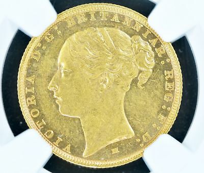Sovereign 1887-M NGC AU58 Australia Gold Rare POP 20