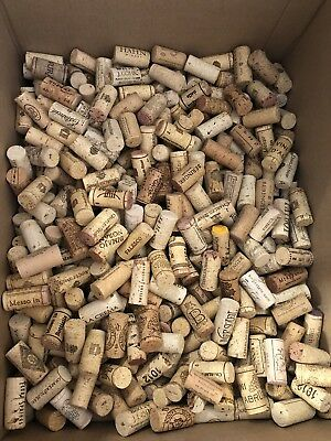 500 used wine corks, FREE ship, all natural cork from red & white wines