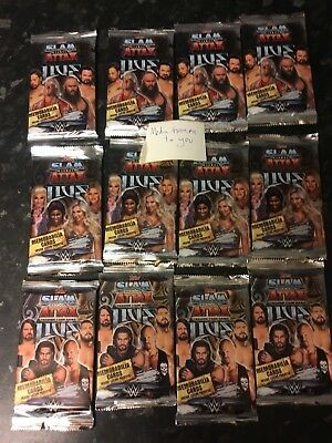 Topps Wwe Slam Attax Live Wrestling Trading Cards 12X Brand New Sealed Packs
