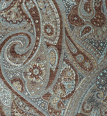 JAB Colosseo Paisley Brown Blue Italy Woven Remnant New