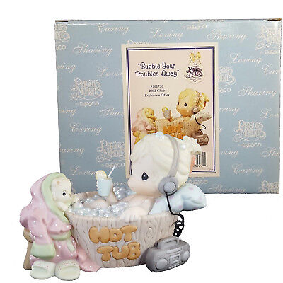 Precious Moments Figurine - Bubble Your Troubles Away, 101730 w/box