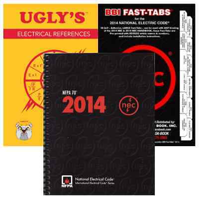 NFPA 70 :National Electrical Code (NEC) Spiralbound, Fast Tabs & Ugly's Ref 2014