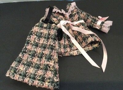 """Tonner Betsy McCall TOUCH OF LUXE COAT & DRESS Pink Green Tweed 14"""" Doll Fashion"""