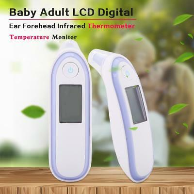 Baby Adult LCD Digital Ear Forehead Infrared Thermometer Temperature Monitor New