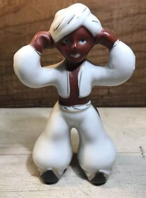 Vintage Occupied Japan Arabian Porcelain Black Man Figurine