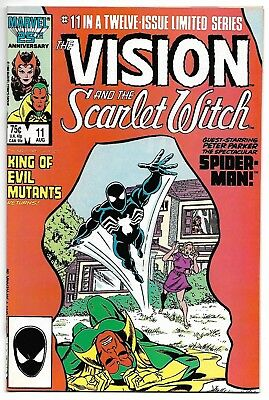 Vision and Scarlet Witch #11 (Marvel, 1986) – Spider-Man in Black Costume – NM-