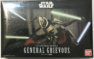 Bandai Hobby Star Wars GENERAL GRIEVOUS 1/12th Scale Plastic Model Kit Sealed