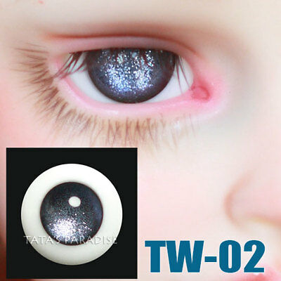 TATA glass eyes TW-02 14mm/16mm for BJD SD MSD 1/3 1/4 size doll use silver