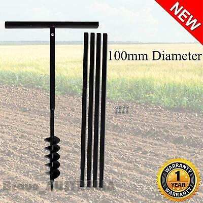 Manual Post Hole Digger Ground Drill Bore Posthole with Extensions Auger Bits 5M