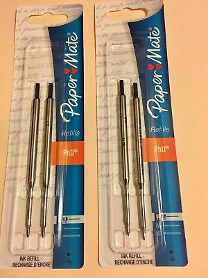 (2 Packages) Papermate Black Ink Refills, Total 4 Refills, Fine Point