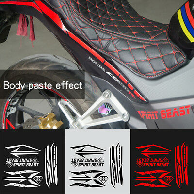Motorcycle Body Frame Waterproof Gas Fuel Tank Pad Sticker Decal Tags Paster KD