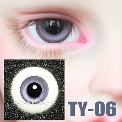 TATA glass eyes TY-06 14mm/16mm for BJD SD MSD 1/3 1/4 size doll use purple