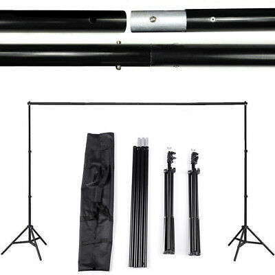 2x3m Adjustable Photography Background Support Stand Backdrop Crossbar Kit