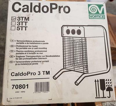 VORTICE 70801 CALDOPRO 3TM fan heater professional portable and from wall