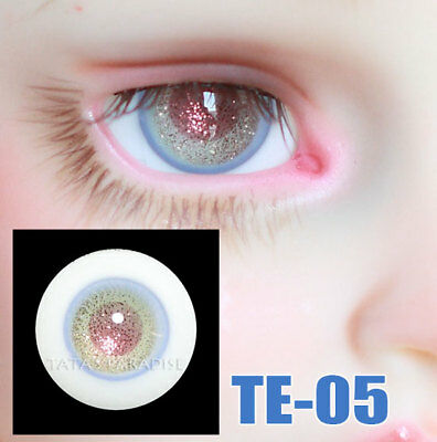 TATA glass eyes TE-05 14mm/16mm for BJD SD MSD 1/3 1/4 size doll use blue+pink