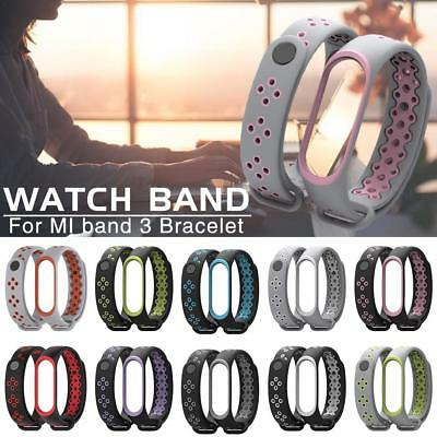 Replacement Silicone Strap Wrist Band Sports Anti-Lost Watchband For Mi Band 3