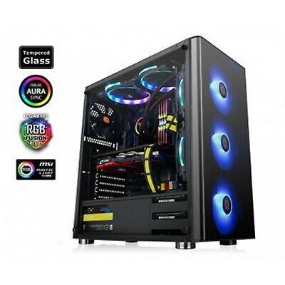 Thermaltake V200 Tempered Glass RGB Mid Tower ATX Case with 500W Power Supply