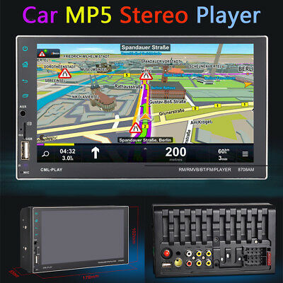 """Car 7"""" 2DIN Touch Screen MP5 Player BT Radio Stereo Android7.1 Hands Free 1+16GB"""