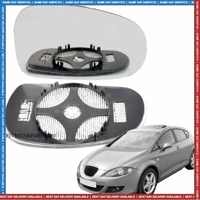 Right side for Seat Leon 2005-2009 heated wing door  mirror glass