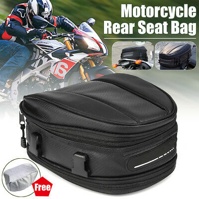 Motorcycle Waterproof 10L Motorbike Riding Cycling Scooter Seat Tail Package Bag