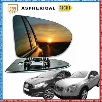 Right Driver side Wide Angle wing mirror glass for Nissan Qashqai 2006-13 heated