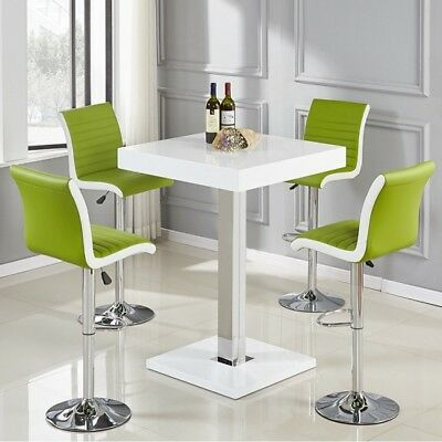 7ababa51a7b CAPRICE BAR TABLE In White High Gloss And Stainless Steel - £309.95 ...