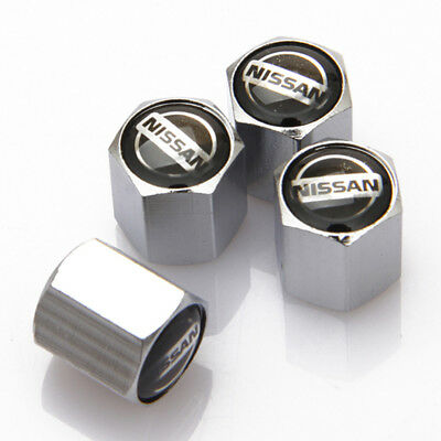 4Pcs Car Accessories Styling Wheel Tire Valve Stems Caps Badge Logo For Nissan