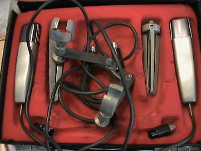 Beyerdynamic M 818   60's VINTAGE dynamic Stereo Set, Case,Clips,Table stands,..