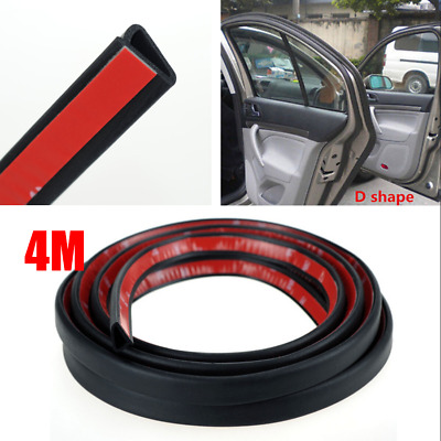 4M Large D-Type Car Door Weather Seal Hollow Strip Rubber Trim Weatherstrip