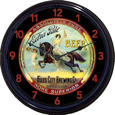 Falls City Brewing Co Louisville KY Beer Tray Wall Clock Horse Angels Ale Lager