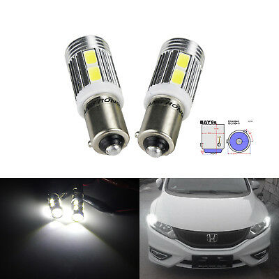 2 Ampoules H21W BAY9S 10 SMD LED Voiture Veilleuse Lampe Tuning Clignotant Blanc