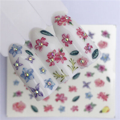Nail Art Water Decals Stickers Transfers Pretty Pastel Flowers Tulips (A1247)