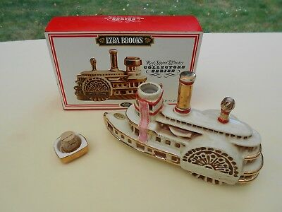 1969 Delta Belle River Boat Ezra Brooks Whiskey Decanter Francine Zak  with box
