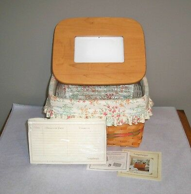 "Longaberger 2002 Mother's Day ""Mom's Memories"" Combo - Lid, Liner, Envelopes +"