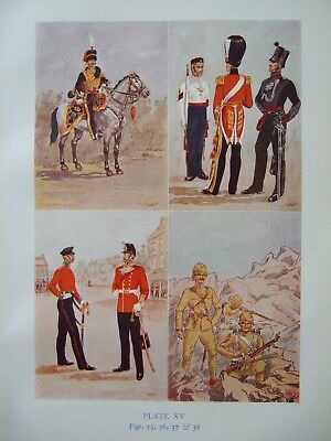 Vintage Military Print-Regiments And Uniforms British Army By Major R M Barnes