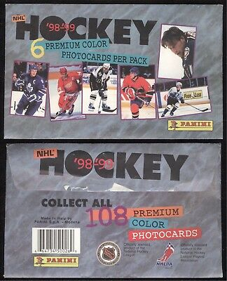 1998-99 98-99 Panini Photocards Nhl Hockey Size 4 X 6 Like Post Card See List