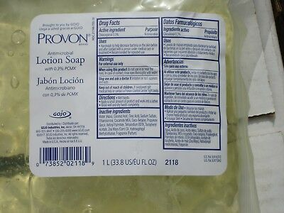 Gojo Provon 2118 Antimicrobial Lotion Soap Refill 0.3% PCMX  Lot of 4 exp 11/20