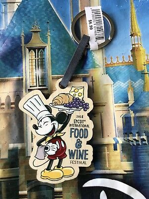 Disney Epcot Food And Wine Festival 2018 Keychain Mickey Mouse Chef