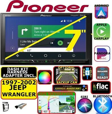 97-2002 Jeep Wrangler Nav Bluetooth Usb Carplay Android Auto Car Radio Stereo