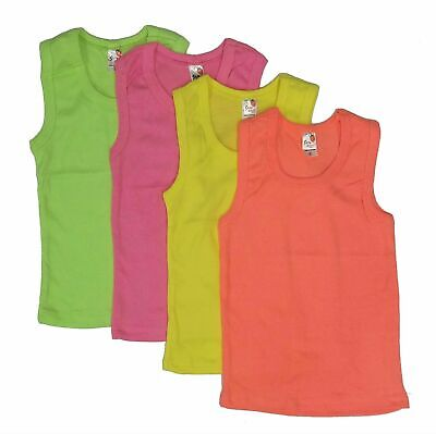 Girls Tank Tops camisole Sleeveless Undershirts 4 Pack 100% Cotton Toddler Baby