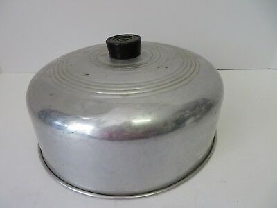 """Vintage Aluminum 10"""" Cake Dome Cover  #8111"""