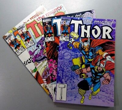 MARVEL Comic THE MIGHTY THOR 1966 #350 351 352 353 Simonson LOT VF/NM Ships FREE